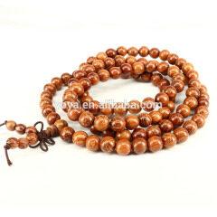 PBB1058 Beautiful Brown Palm wood Prayer Buddha Mala Meditation Beads ,Palmwood Beads