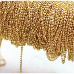 BC1104G Gold Plated Ball Chain,Metal Round Ball Chain