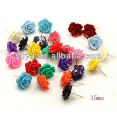 E3145 Fashion earring,coral rose stud earring