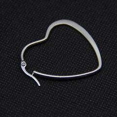 ES1022 IPG Gold Plating Stainless Steel Heart Shape Hoop Earrings