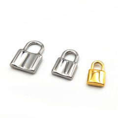 S1164 High Quality Hiphop Jewelry Supplies 18K Gold Plated Stainless Steel Lock Charm Pendants