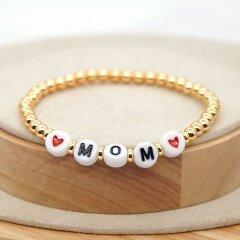BM1015  Trial Jewelry Charm Letter Eye Heart Macrame Bracelets,Fashion Copper Bead With Heart Bracelets