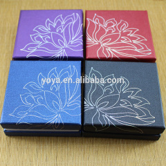 BP0707 Flower printed paper bracelet boxes,paper jewelry gift box