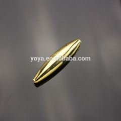 CZ6640 Gold plated cz spacer beads, oval charm beads
