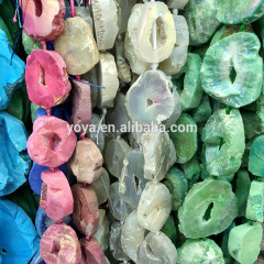 AB0557 Wholesale New natural geode agate druzy freeform nugget beads