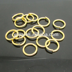 JFR1014 wholesale strong 13mm gold plated open jump rings,link circle jump rings