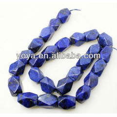LL1013 Natural Faceted Lapis Lazuli Nugget beads,faceted lazuli cube beads