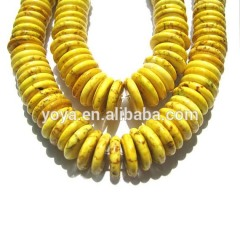 TB0010-4 Yellow Turquoise Heishi Beads,Yellow Heishi Beads