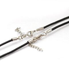 BC1130 Wholesale fashion DIY black leather necklace chains