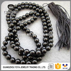NE2009 Black onyx beads prayer necklace, Fashion onyx beads necklace