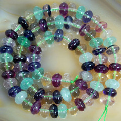 SB6307 Natural Colorful Fluorite Rondelle Beads,Fluorite Abacus Beads
