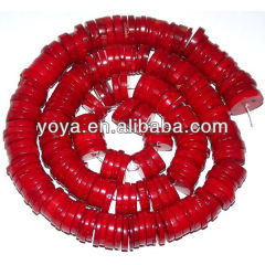 CB8017 Red coral coin beads