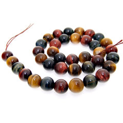TE3009 natural multicolor tiger eye stone beads