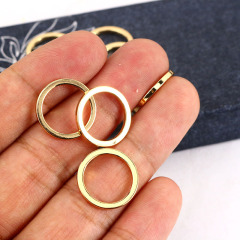 JS1500 18k gold plated hoop circle Charm necklace connectors for necklace jewelry making,,fashion jewelry supplies