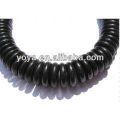 TB0010-2 Black Turquoise Heishi Beads,Black Heishi Beads