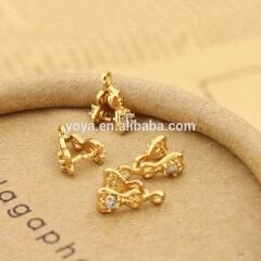 CZ6568 Wholesale CZ micro pave pinch bail clasp,clip clasp charm pendant for necklace