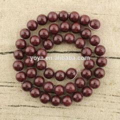 MJ1005 Wholesale purplish red mashan jade stone jewelry beads