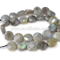 LA5005 Labradorite Faceted Coin Beads