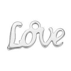 S830 Wholesale Mini Stainless Steel Small Love letter charm pendant