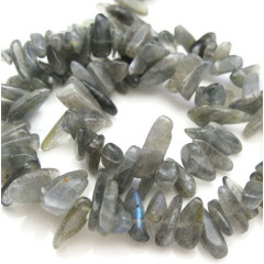 LA5018 Natural Labradorite tumbled Chips, fflash stone chips
