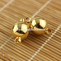 JF1293g 8mm 10mm 12mm Gold Plated Stainless steel round ball magnet magnetic clasps