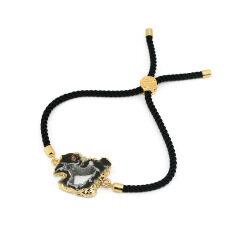 BN4011 wholesale natural botswana agate geode druzy stone bracelet jewelry for women
