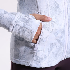 Women's digital print elastic running Yoga gloves sleeve top