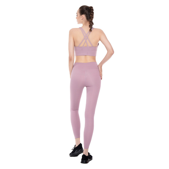 New yoga suit summer 2020 New Amazon fitness running Yoga suit large wholesale