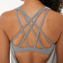 2020 summer new women's sports Yoga vest gathers shockproof running bra loose fit suit