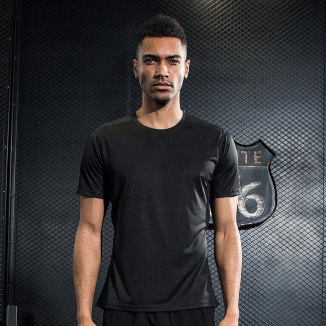 Men's short sleeve running reflective sports fitness training quick dry t-shirt