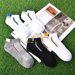 Factory direct sale men's casual socks summer sports breathable cotton ship socks