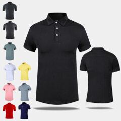 customized quick drying Polo Short Sleeve running gym training t-shirt
