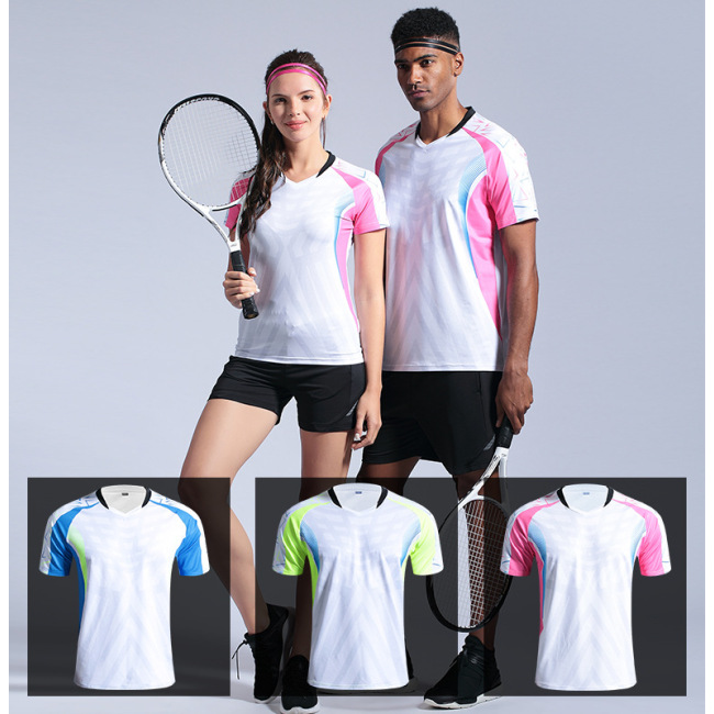 customized new badminton suit summer short sleeve quick drying tennis sportswear