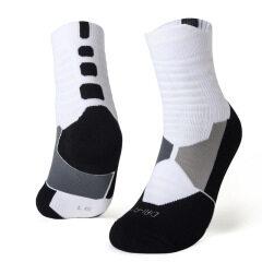 custom logo basketball gym men's elite compression cotton athletic sport socks