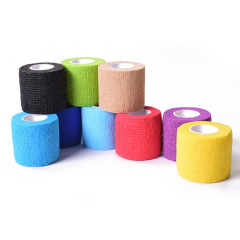 Self adhesive bandage pure color wrist guard non woven sports protection tape