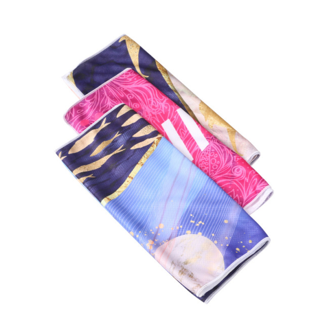 cold feeling exercise towel running sweat towel gym quick dry ice towel