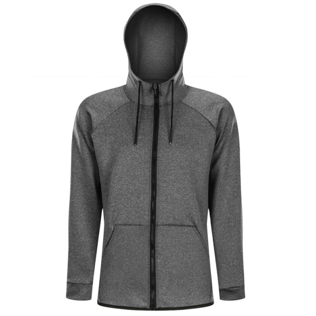 men's hooded basketball training sportswear outdoor running breathable quick drying fitness coat