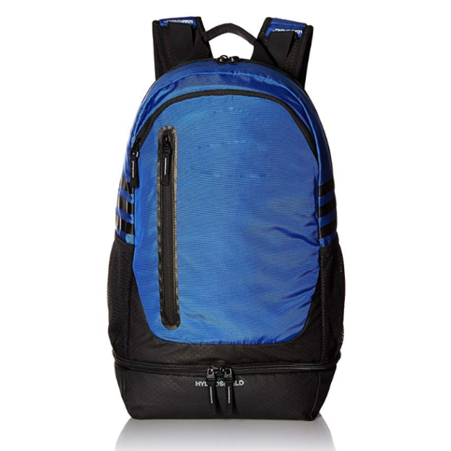 Custom print sports backpack with shoes compartment