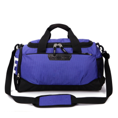 Travel duffel bag in coating fabric