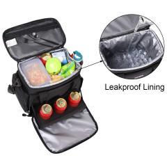 Hot sale foldable cooler bag with can holder