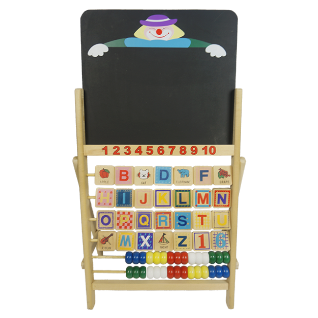 XL10104 Wooden Double-Sided Magnetic Detachable Easel Children Drawing Board Wooden 3-in-1 Tabletop Easel Drawing Board