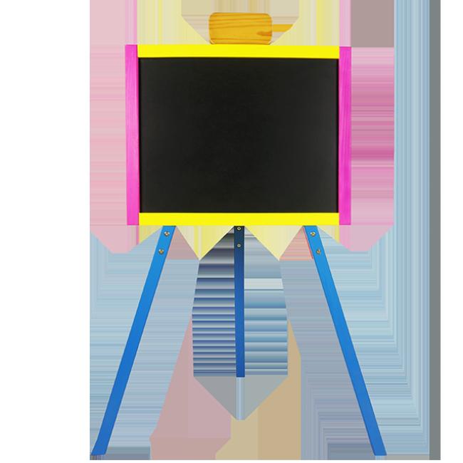 XL10135 Drawing Board for Children Paint Board Wooden Toys Standing a Design Wooden Blackboard Easel