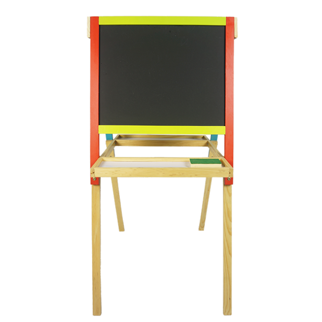 XL10136 Magnetic a-Type Double Side Easel Blackboard with Walnut Wooden Frame Wooden Paint Blackboard