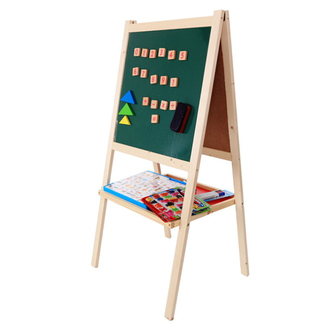 Wooden Easel For Children Painting Wooden Board