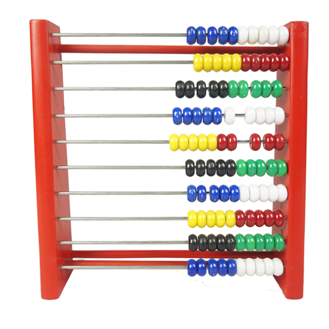 XL10044 Montessori Wooden Beads Abacus Kids Math Counting Educational Toys