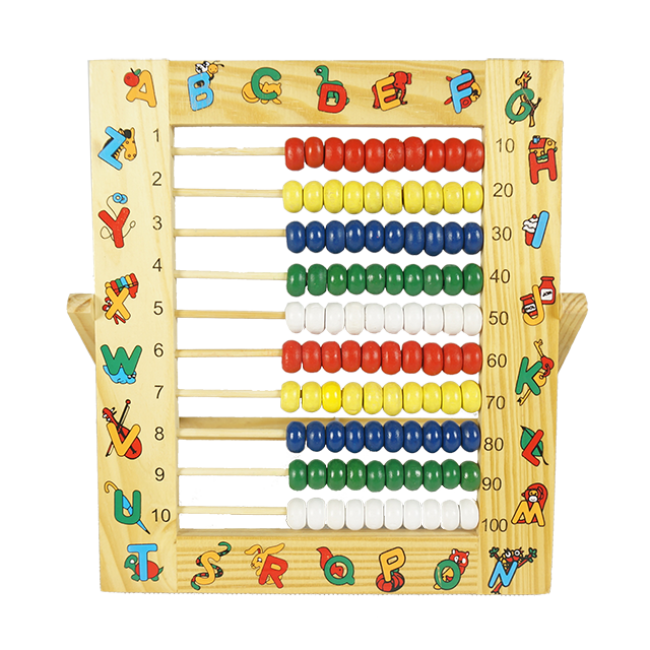 XL10050 Educational Kids Wooden Math Toy Learning Math Toys Teacher Abacus Toy