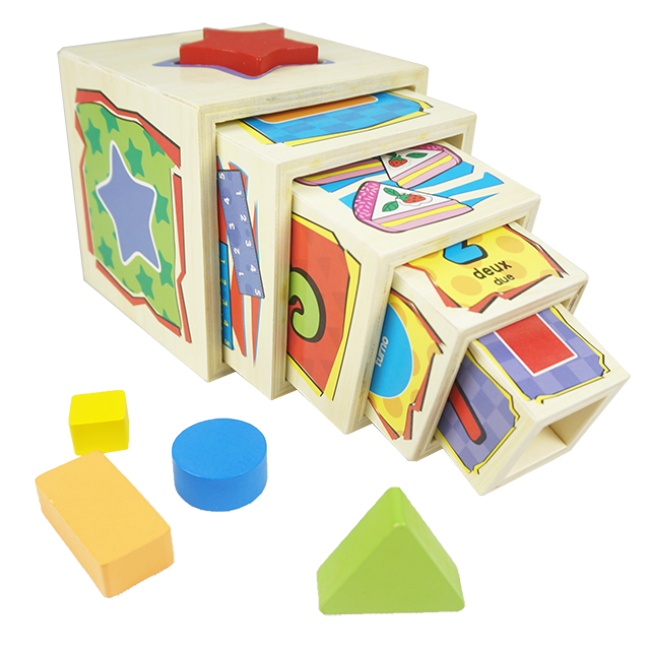 Multi-Functional Puzzle Magic Wooden Box Can Inspire Children′s Brains of Wooden Puzzle Toys Educational Geometric Shape Construction Outdoor Wooden Building
