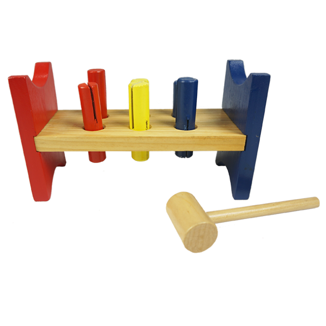 Wooden Piling Table Wooden Hammer Strength Pound Bench