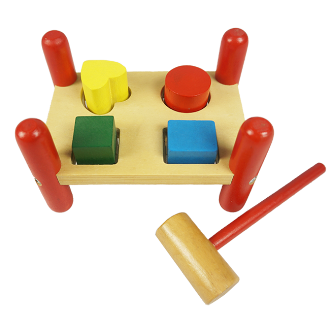 The Cute Wooden Pile-up Game That Children Like Wooden Piling Table