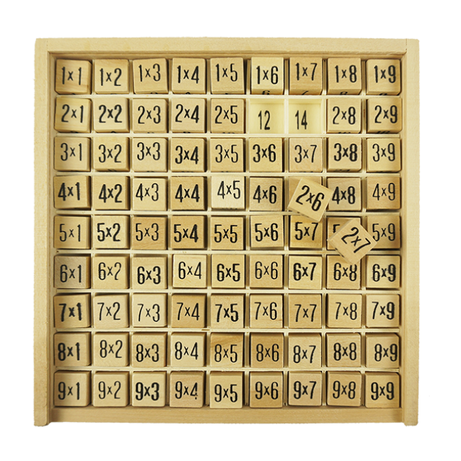 Wooden Education Toys Wooden Multiplication Table